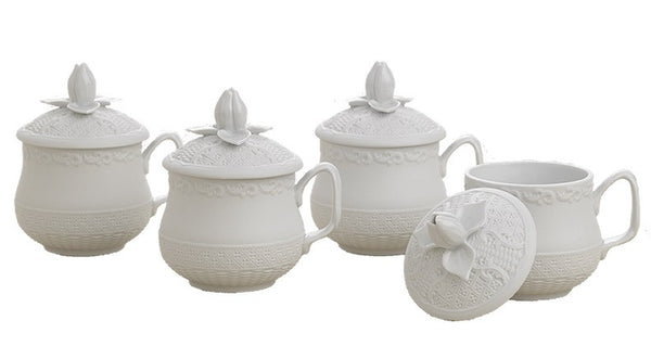 Mottahedeh Prosperity Pots de Creme Set of 4 - GDH | The decorators department Store