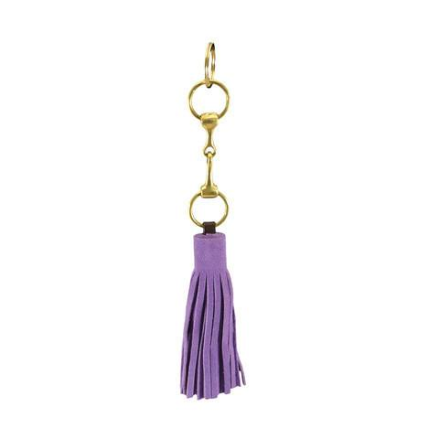 Suede Snaffle Tassel Key Fob | Lilac - GDH | The decorators department Store