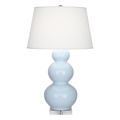 Triple Gourd Lamp with Lucite Base | Baby Blue