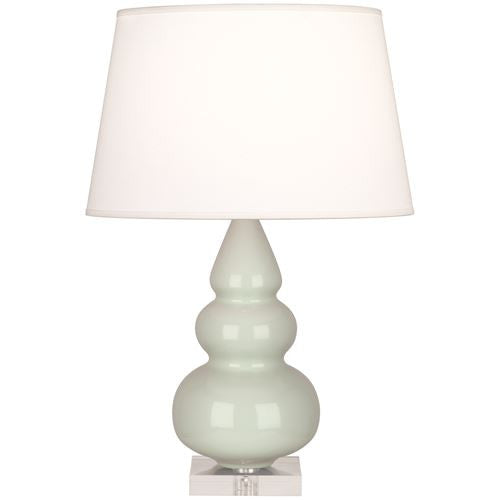 Small Triple Gourd Lamp with Lucite Base | Celadon