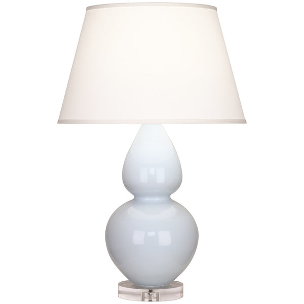 Robert Abbey Double Gourd Table Lamp | Baby Blue