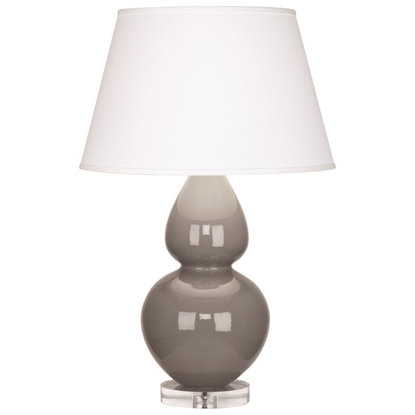 Robert Abbey Double Gourd Table Lamp | Smokey Taupe
