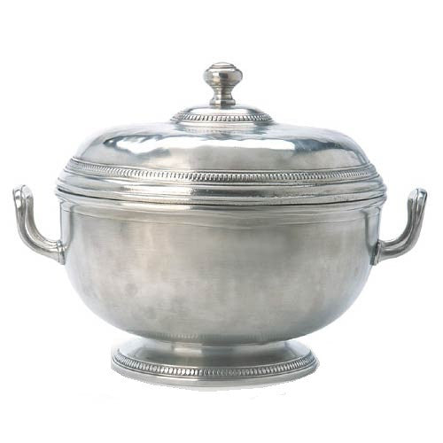 Match Pewter Beaded Round Tureen