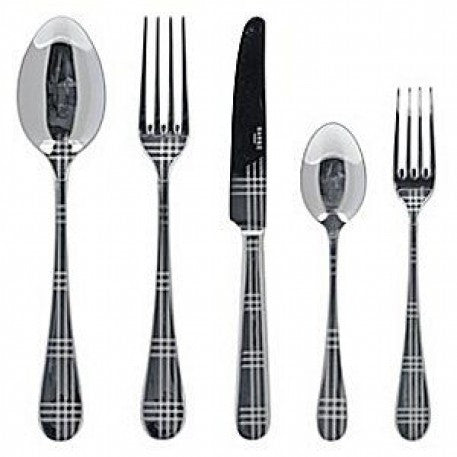 Sabre Metal Tartan 5 Pc Place Setting - CITY LIFE CATALOG