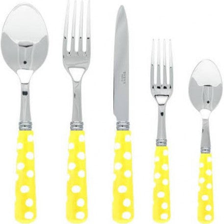 Sabre Dots Yellow Flatware - CITY LIFE CATALOG