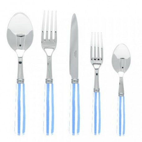 Sabre Stripe Light Blue Flatware - CITY LIFE CATALOG