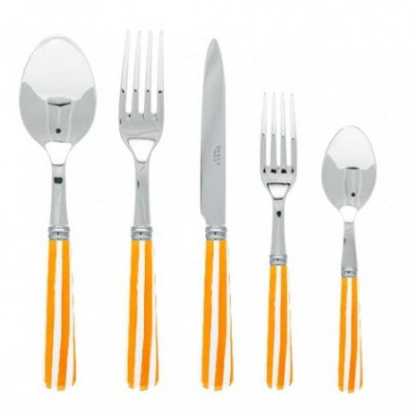 Sabre Stripe Orange Flatware - CITY LIFE CATALOG