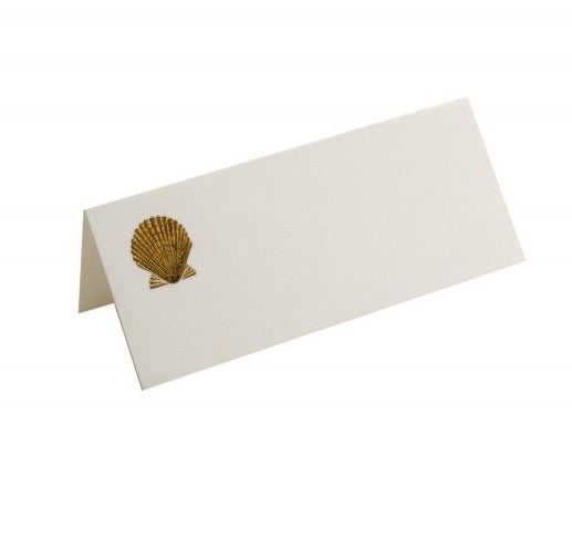 Dempsey & Carroll Gold Seashell Place Card