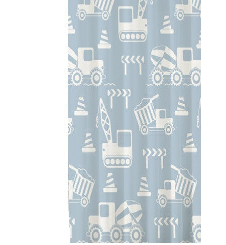 Construction Bath Shower Curtain