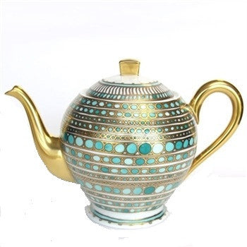 R Haviland Syracuse- Turquoise Coffee Pot - GDH | The decorators department Store