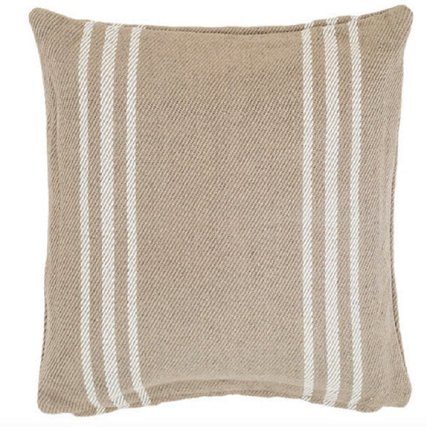 Lexington Platinum/White Indoor/Outdoor Pillow - GDH | The decorators department Store