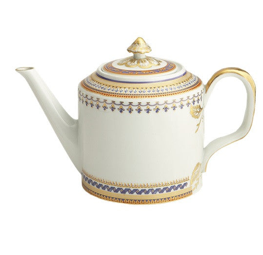 Mottahedeh Chinoise Blue Teapot - GDH | The decorators department Store