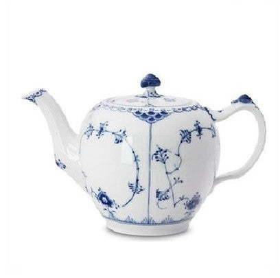 Blue Fluted Half Lace 1.06-qt. Teapot - GDH | The decorators department Store
