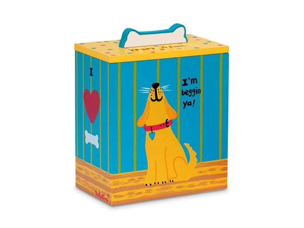 Yellow Dog Treat Box