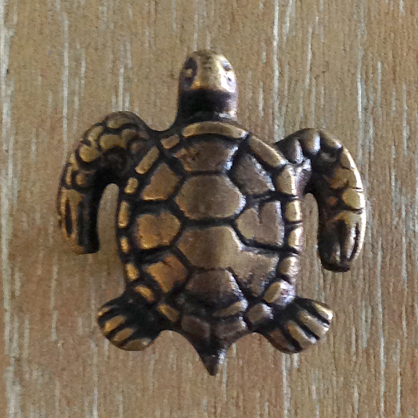 Bronze Turtle Door Pull  S/12 - GDH | The decorators department Store