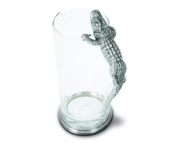 Alligator Glass Pitcher