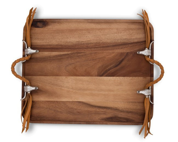 Long Horn Skull Breakfest Tray