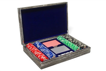 Vintage Solid Wood Poker Set - GDH | The decorators department Store