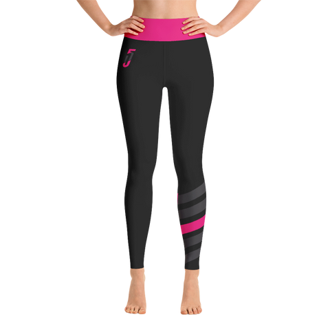 Electric Pink Stripe Leggings