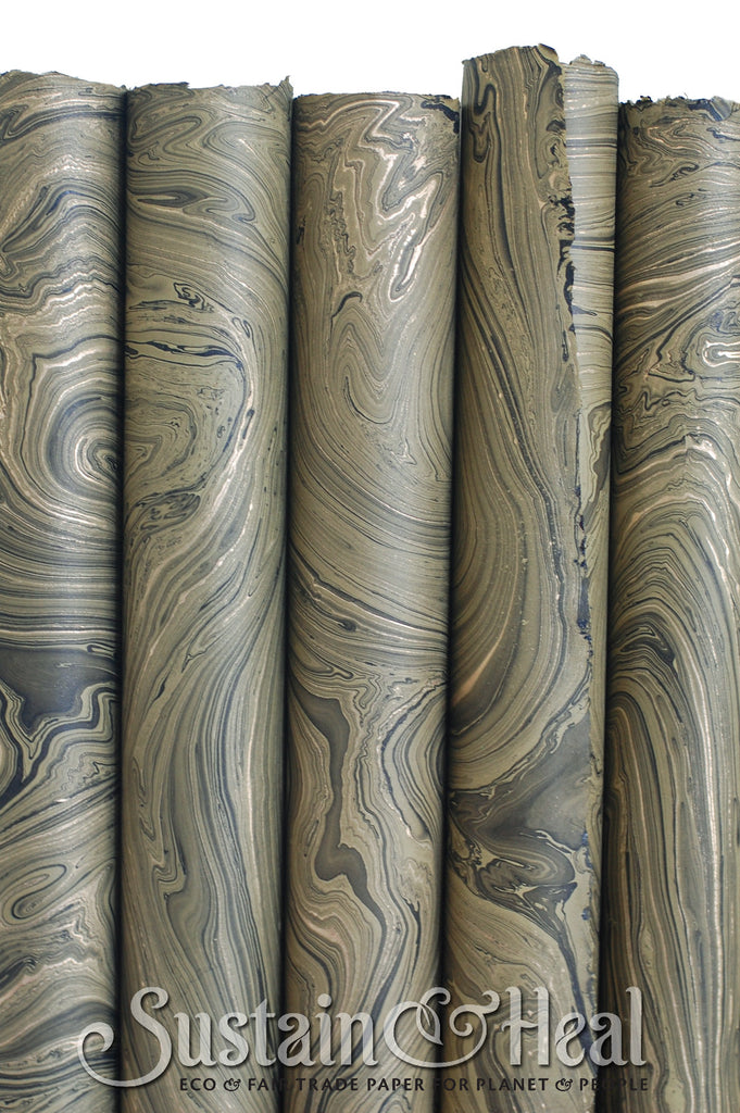 Olive Green Marble Sheet #130