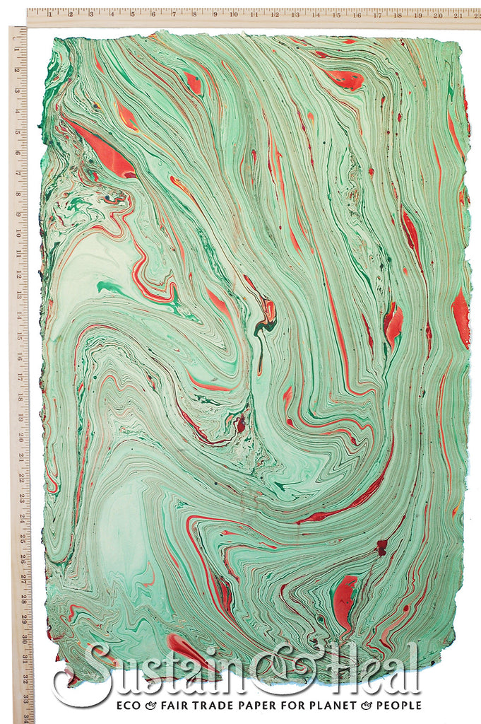 Green and Red Marble Sheet #137