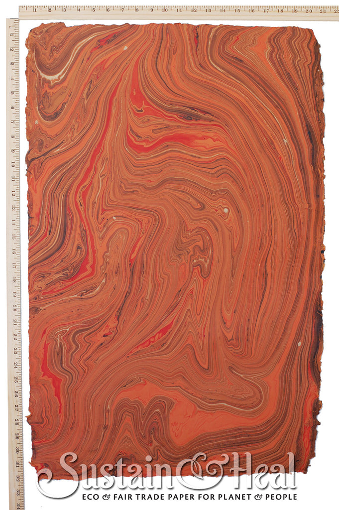Dark Orange Marble Sheet #146