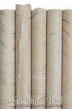 Cream and Silver Marble Sheet #148
