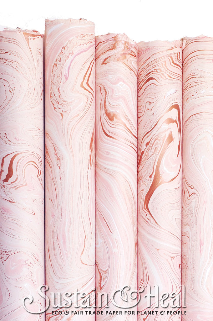 Rose Gold Marble Sheet #176