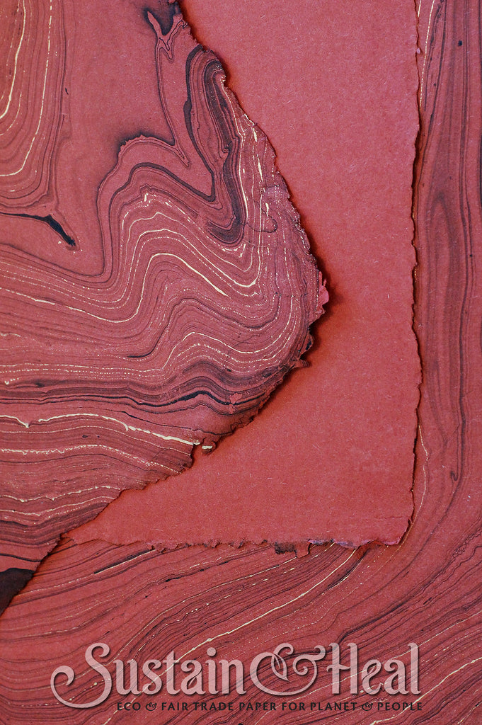 Brick Red Marble Sheet #24