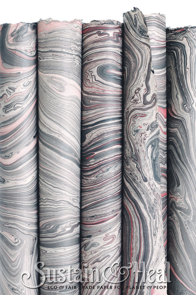 Gray and Pink Marble Sheet #26
