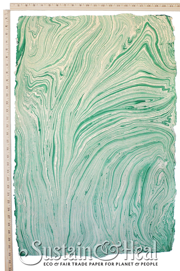 Mint Green Marble Sheet #36