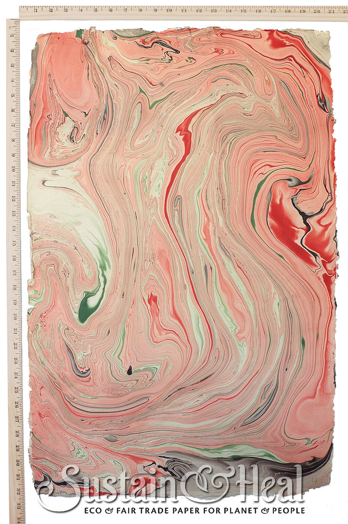 Pink and Green Marble Sheet #38