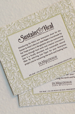 Sustain & Heal fair trade paper swatchbook