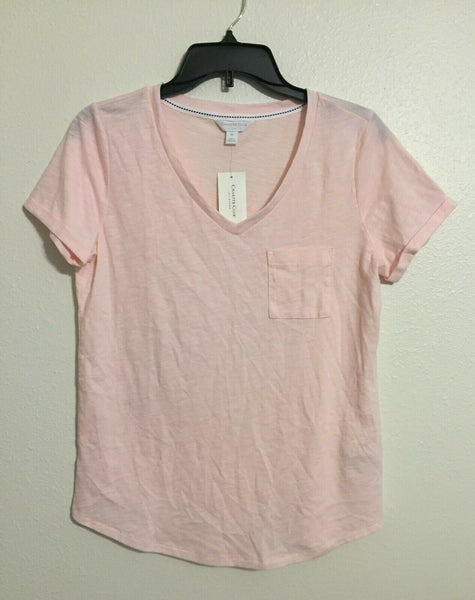 Charter Club Women's Cotton Knit Pajama T-Shirt Top 100052482 Pink Blue XS L XL - Red Tag Central