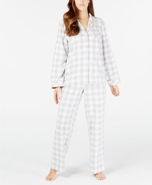 Charter Club Cotton Flannel Pajama Set 100069427 Tonal Plaid M L XL XXL