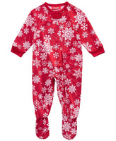 Family Pajamas Macy's Baby Toddler Footed Pajama 100069539 Snowflake 6-9 Months 24 Months - Red Tag Central