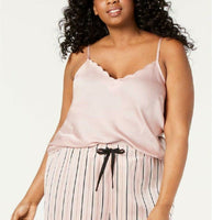 INC International Concepts INC Plus-Size Scalloped Neckline Camisole Pajama Top - Red Tag Central