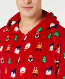 Family Pajamas Macy's Men's Santa & Friends Hooded Pajamas 100069506 Red M L XL - Red Tag Central