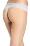 Calvin Klein Striped-Waist Modal Thong Panty QD3670 Ivory Grey L XL - Red Tag Central