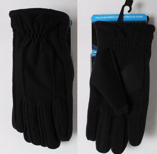 ISOTONER smarTouch Touchscreen Compatible Gloves 700M1 Black  M/L - Red Tag Central