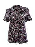 Charter Club Notch Collar Knit Cotton Printed Pajama Top 100059097 Floral Field S M XXXL