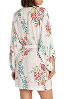 In Bloom by Jonquil Rayon Floral Wrap KOK130 Ivory XL - Red Tag Central