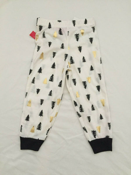 Family Pajamas Macy's BabyToddler Tree-Print Pajama Pants 100069522 Ivory 2T-3T - Red Tag Central