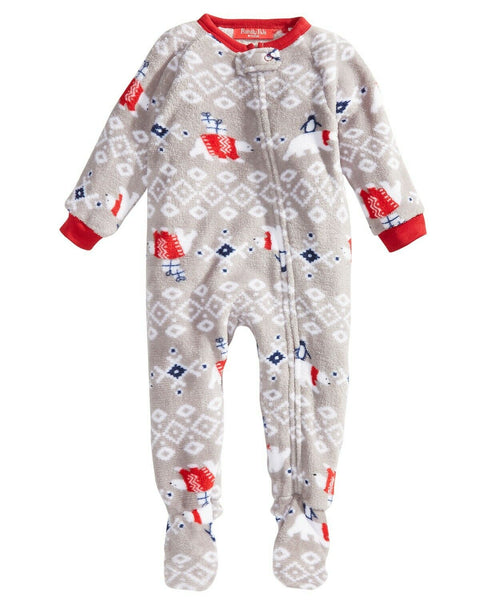 Family Pajamas Macy's Baby Toddler 1-Pc Footed Pajama 100072779 Polar Bear 24Mo - Red Tag Central