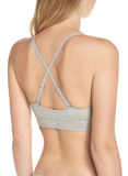 Calvin Klein Monogram Unlined Triangle Bra QF4919 Heather Grey Black XS S M XL - Red Tag Central