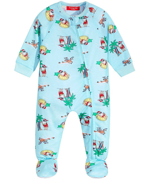 Family Pajamas Macy's Baby & Toddler Footed Pajama 100069547 Santa 12 Months 18 Months - Red Tag Central