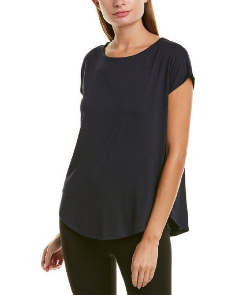 Donna Karen Women's Short Sleeve Sleep Shirt D346957 Navy XL - Red Tag Central