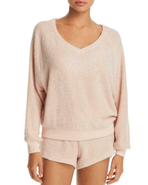 Honeydew Intimates Sweet Retreat Terry Sweatshirt & Shorts 2PC Set L XL Vintage - Red Tag Central
