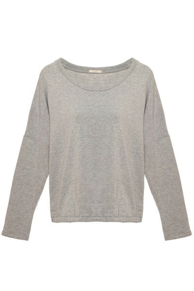 Eberjey Winter Heather Slouchy Tee T1831L Heather Grey Large - Red Tag Central
