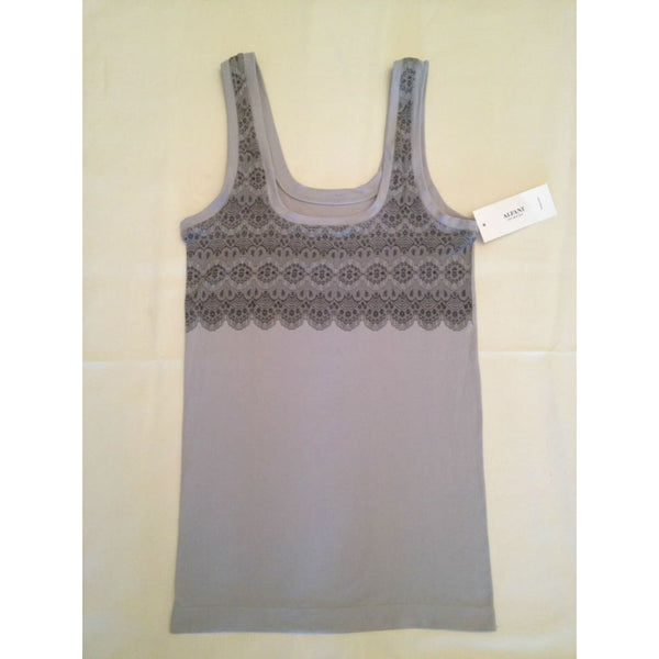 Alfani Women's Seamless Cami Tank Top A211 S/M Silver - Red Tag Central